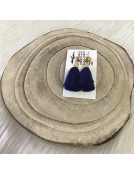 REBL Creative Stud Tassel Royal Blue