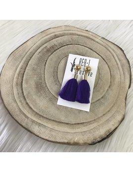 REBL Creative Stud Tassel Purple