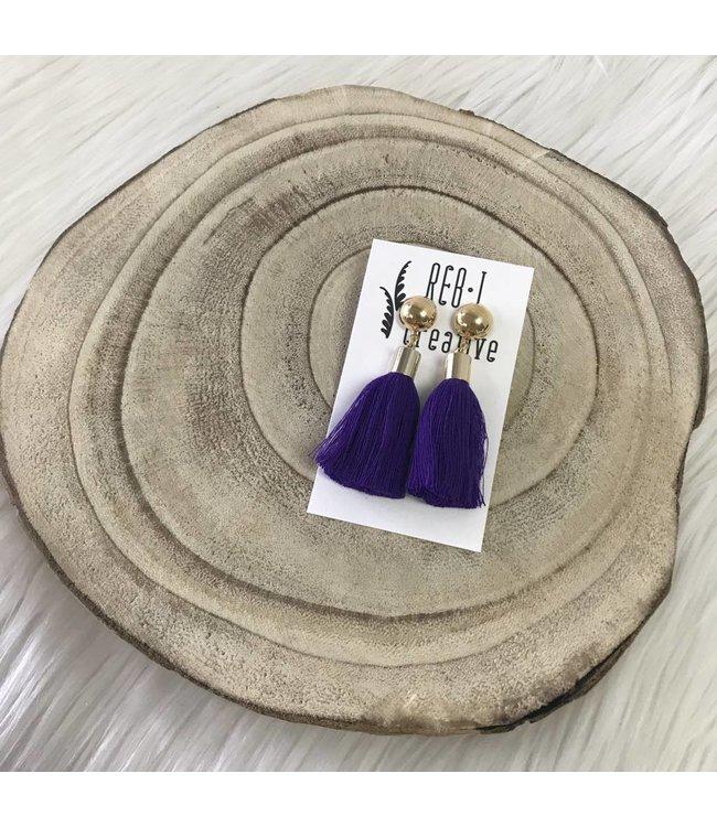 Stud Tassel Purple