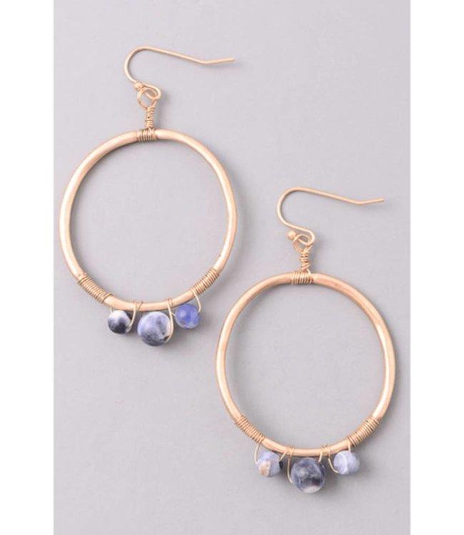 Stone Wrap Earrings 0511