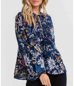 Lush Floral Print Tie Up Top 11858