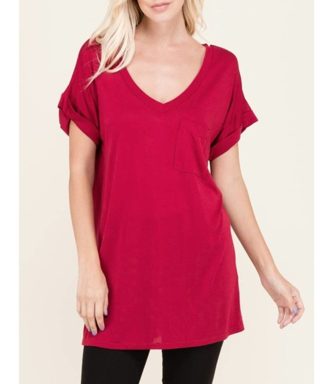 Pocket V Neck Tee 1940