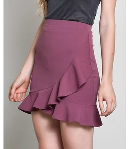 Blue Blush Ruffle Mini Skirt 3010