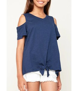 Hayden Los Angeles Kids Open Shoulder Knot Tee 5255