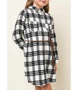 Hayden Los Angeles Kids Plaid Shirt Dress 3104