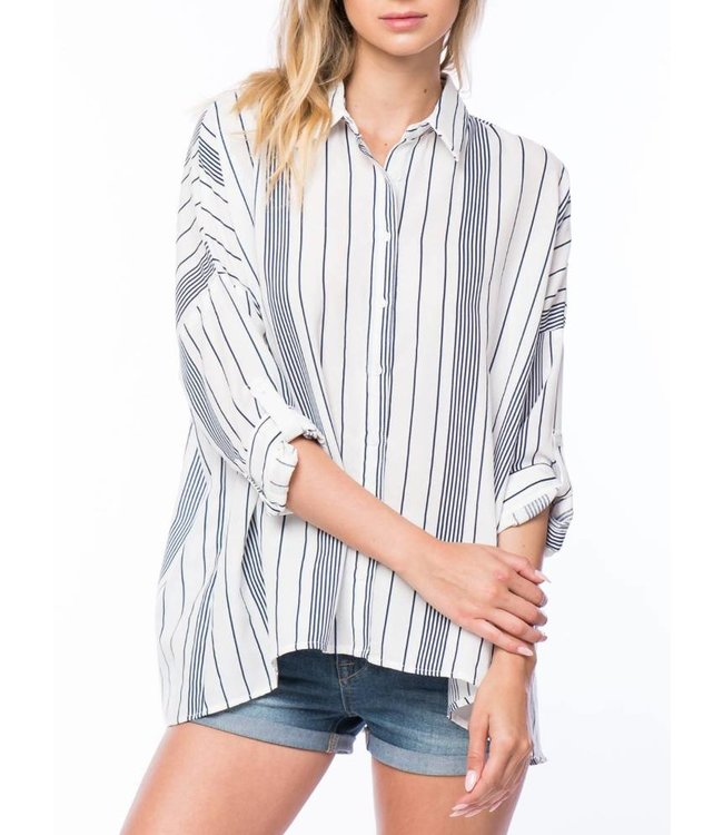 Oversized Stripped Top 61670