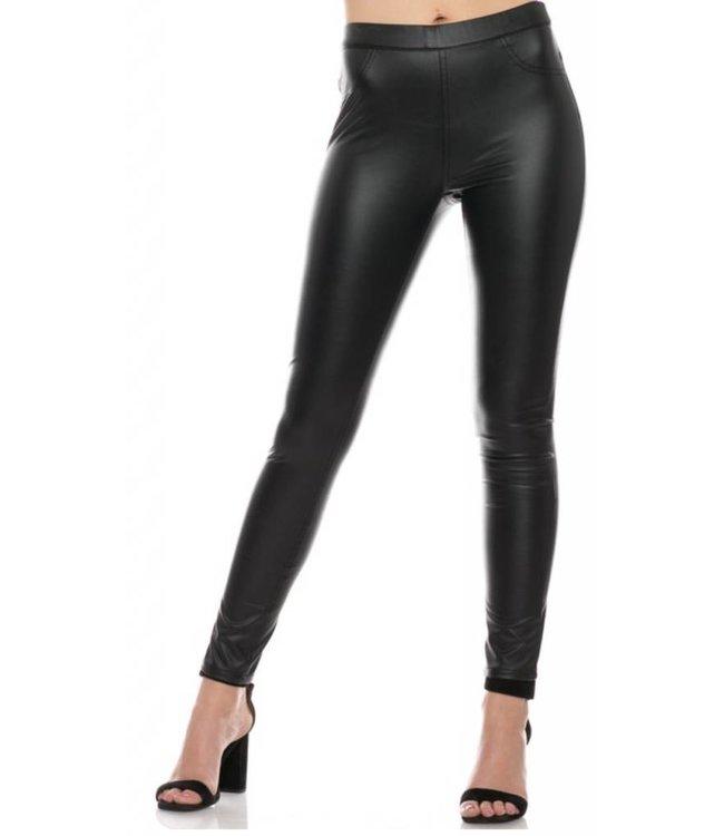 Faux Leather Legging 6144