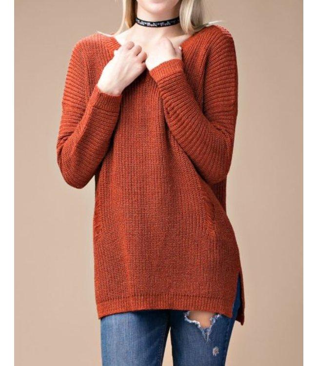 Distressed Sweater 3222