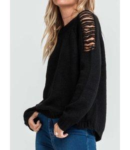 Lush Distressed Sweater 13113