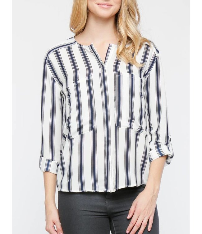 Pocketed Striped Top 270
