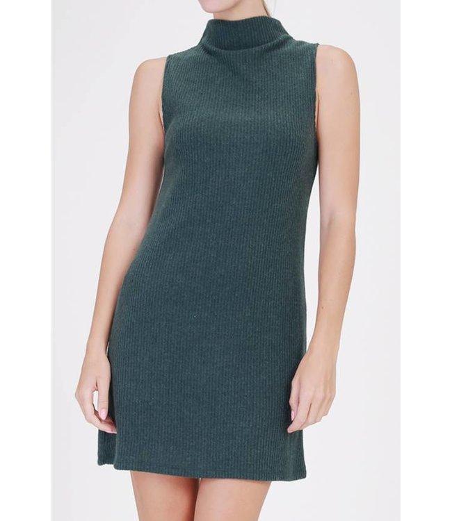 Mock Neck Sweater Dress 17088