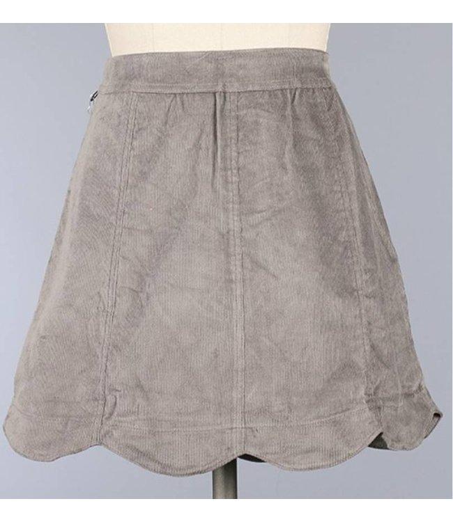 Scalloped Cordoroy Skirt 17056