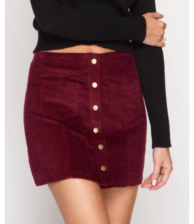 Cordoroy Button Down Skirt 2388