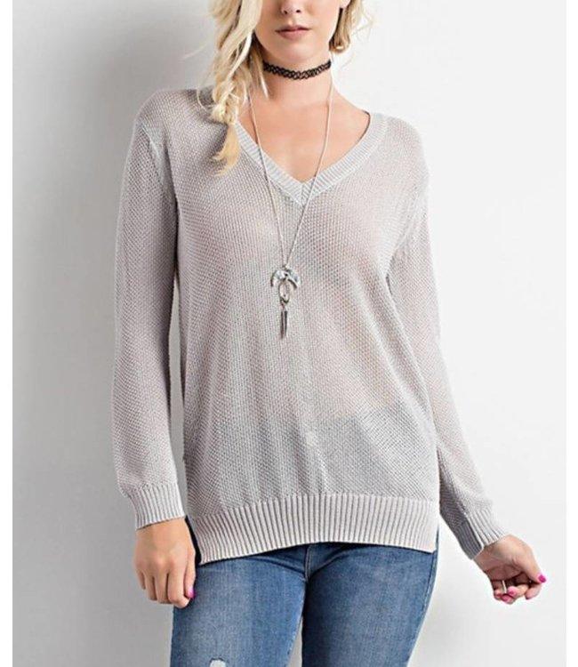 V Neck Sweater 8124