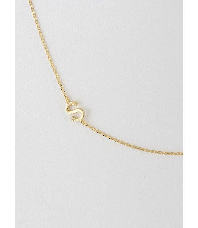 H&D Initial Necklace 9854