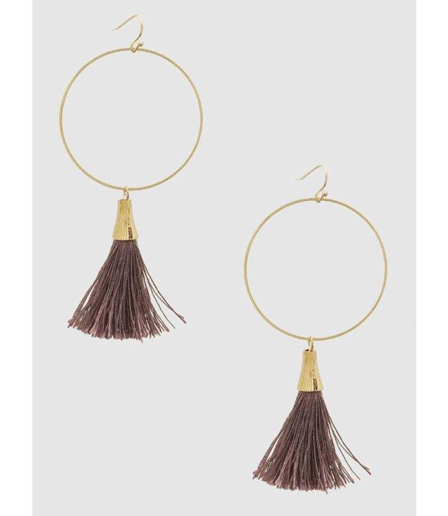Bijoux USA Tassel Hoop Earring 2065