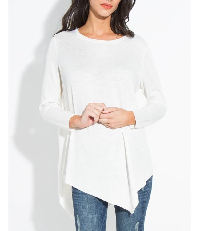Crew Neck Tunic Sweater 1407
