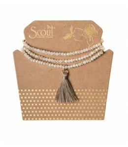 Scout Tassel Wrap 006 White Sand