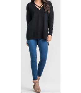 Slit Sweater 12708