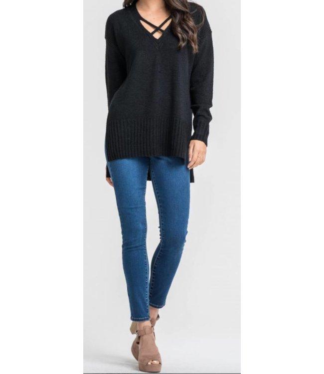 Slit Sweater 12708