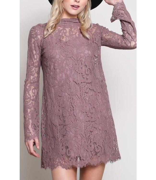Long Sleeve Lace Dress 8005