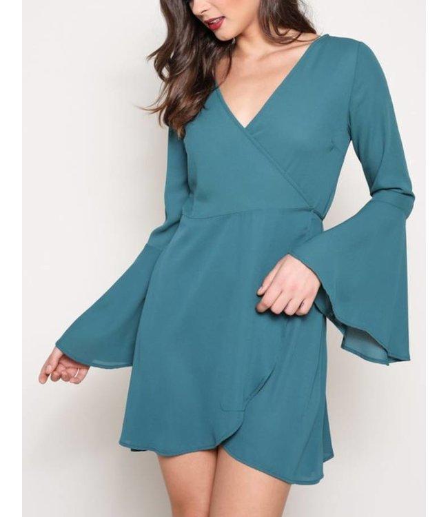 Flowy Wrap Dress 8665