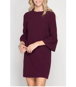 Bell Sleeve Dress 5751
