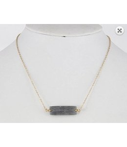 Stone Bar Necklace 462