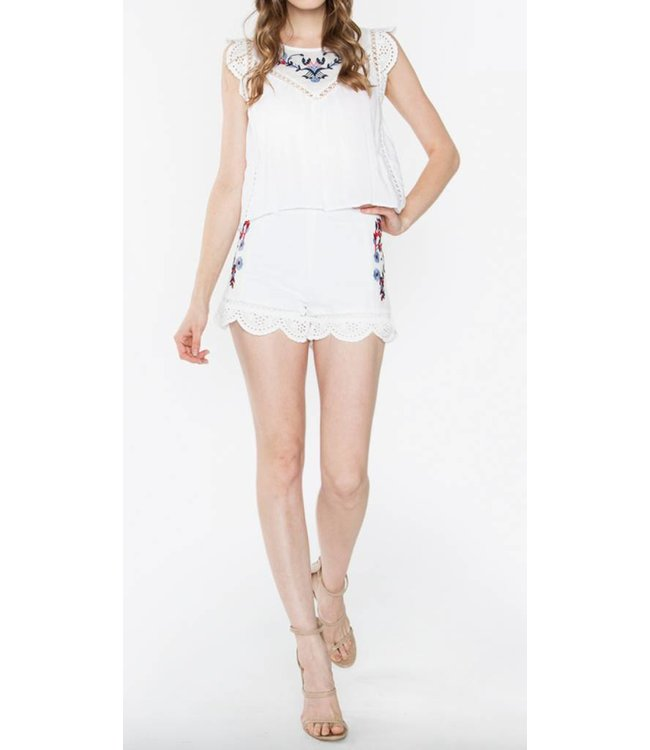 Embroidered Top 13590