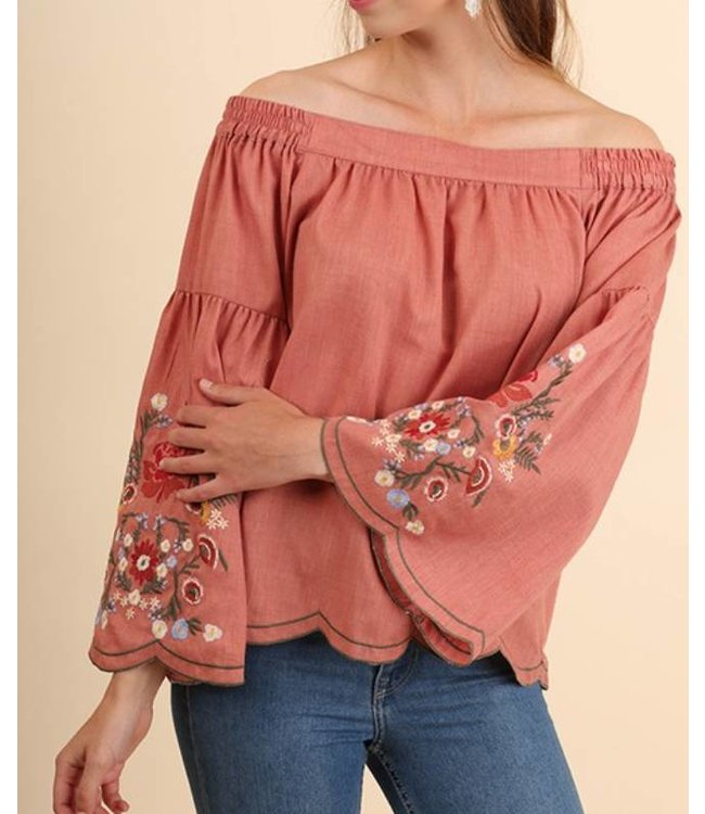 Floral Off The Shoulder Top  3776