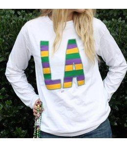 Mardi Gras Stripe, Long Sleeve