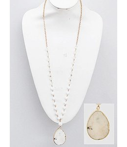 Beaded Stone Necklace 5036