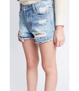 Kids Distressed Denim Shorts 5491