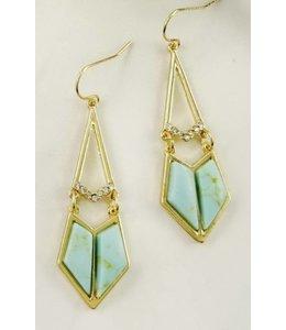 Triangle Stone Earring 6032