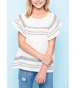Kids Ruffled Sleeve Top 5235