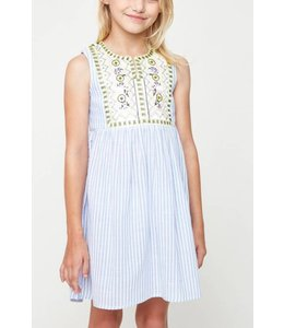 Kids Embroidered Dress 6058