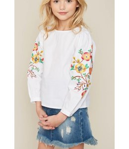 Kids Floral Embroidered Top 4108