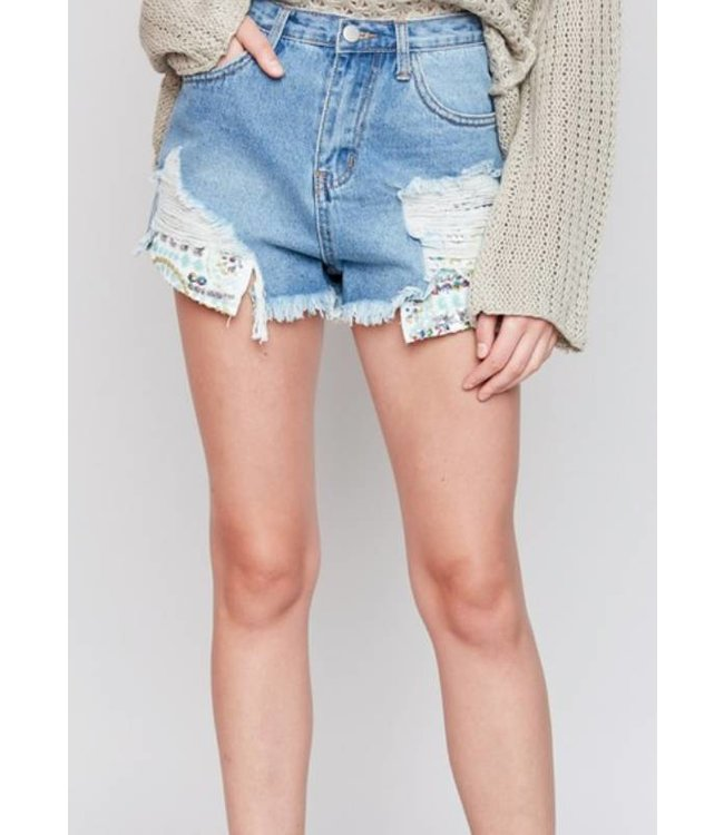 Distressed Denim Short 5600