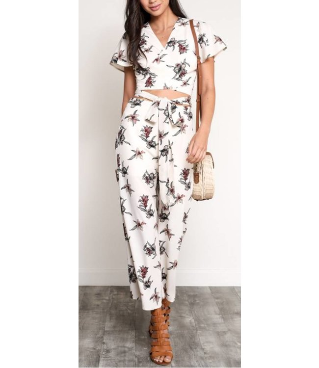 Crop Floral Pants 0175
