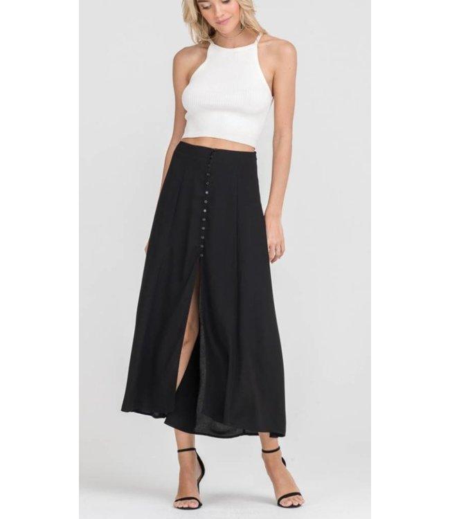 Button High Low Skirt 8081