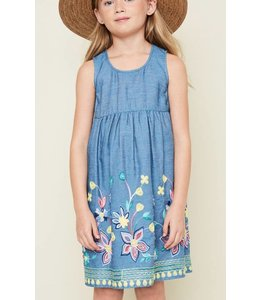 Kids Embroidered Dress 5042