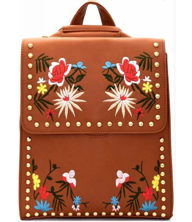 Embroidered Backpack 6606