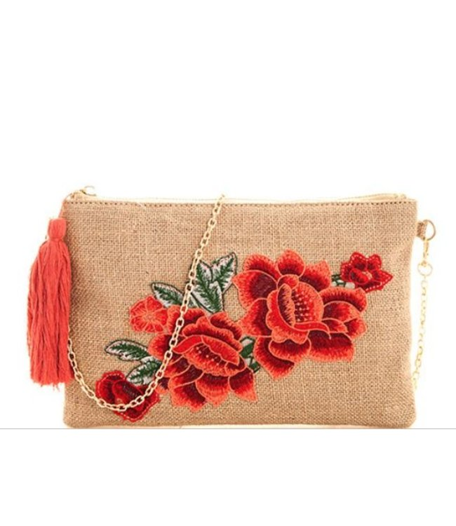 Embroidered Clutch 131