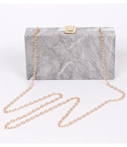Marble Square Clutch 6034
