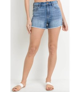JB High Waist Back Pocket Short
