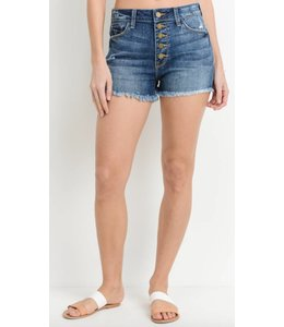 JB High Waist Button Down Short 370