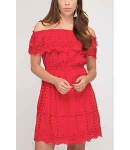 SS Eyelet Dress 7198