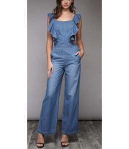 aca71d4643d7 DB Ruffle Denim Jumpsuit 15382