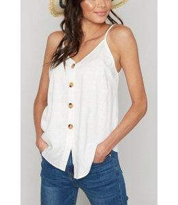 HA Sleeveless Linen Button-Down 6541