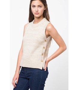 VJ Button Down Neck Sweater 278